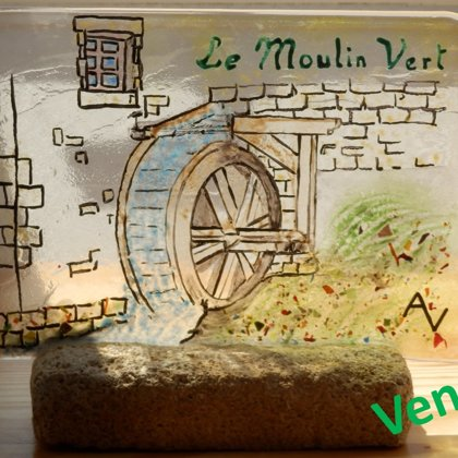 MOULIN VERT Fusing Grisaille